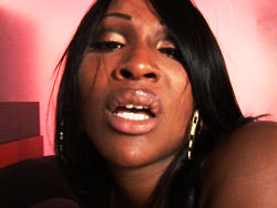 Lady godiva  ebony tranny getting her analy have sexual intercourse deeply. Ebony ladyboy Getting Her butt fuck Deeply
