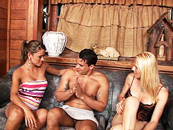 Kamila amp samara  a guy having fun with 2 libidinous trannies. A Guy Having Fun With 2 lustful Trannies