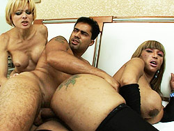 Janaita amp gabrielle  two super hot trannies fuck a guy. Two Super Hot Trannies have sex A Guy