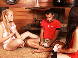 Marcia and reana A Guy Having Fun With Two fuck Hot Shemales.